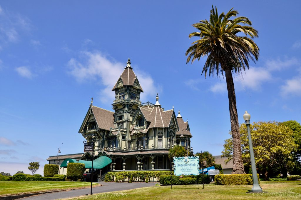 Carson Mansion in Eureka along California's Redwoods and Beaches